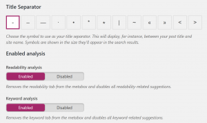 Yoast SEO features several