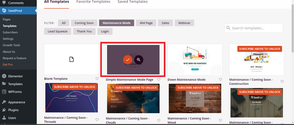 Simple Maintenance Mode Page