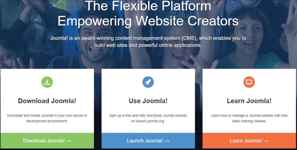The Joomla! site.